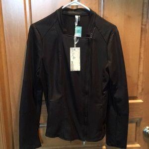 Miilla black faux Swede jacket